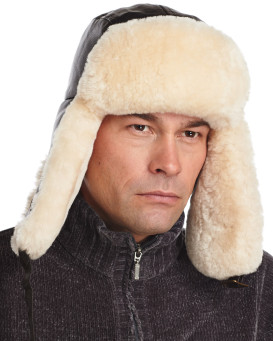 Classic B-3 Sheepskin Aviator Hat for Men