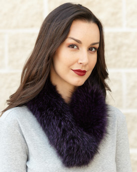 Violet Fox Fur Collar