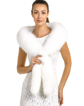 c86d18ac912d7 Cecilia White Fox Fur Fling with Tails Special