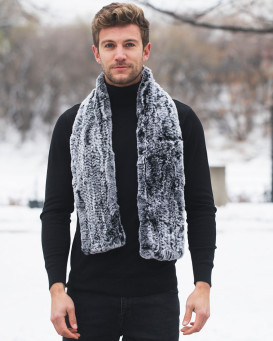 The Christopher Black Frost Rex Rabbit Fur Pull Through Scarf