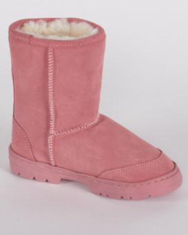 Children's Pink Shearling Sheepskin Boot (Ages 6-10 years)