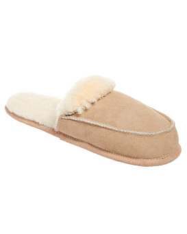 Women's Soft Sole Open Back Sheepskin Slippers