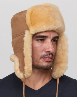 Yukon Sheepskin Russian Ushanka Hat for Men