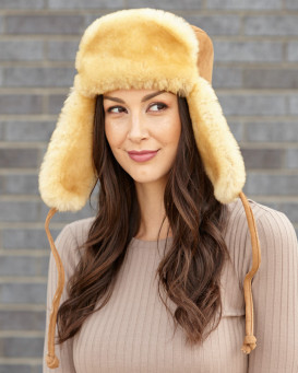 The Lady Yukon Sheepkin and Suede Russian Hat