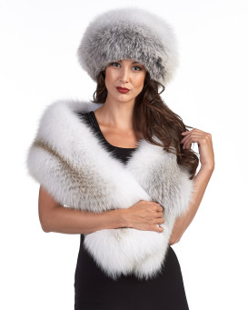The Liberty Fawn Fox Fur Stole