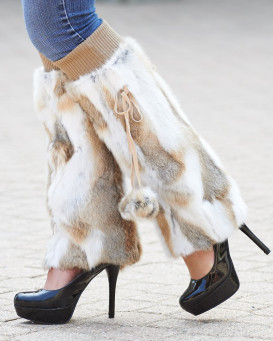 Fur Slippers & Boots
